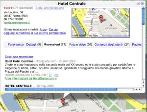 hotelcentralegooglemap