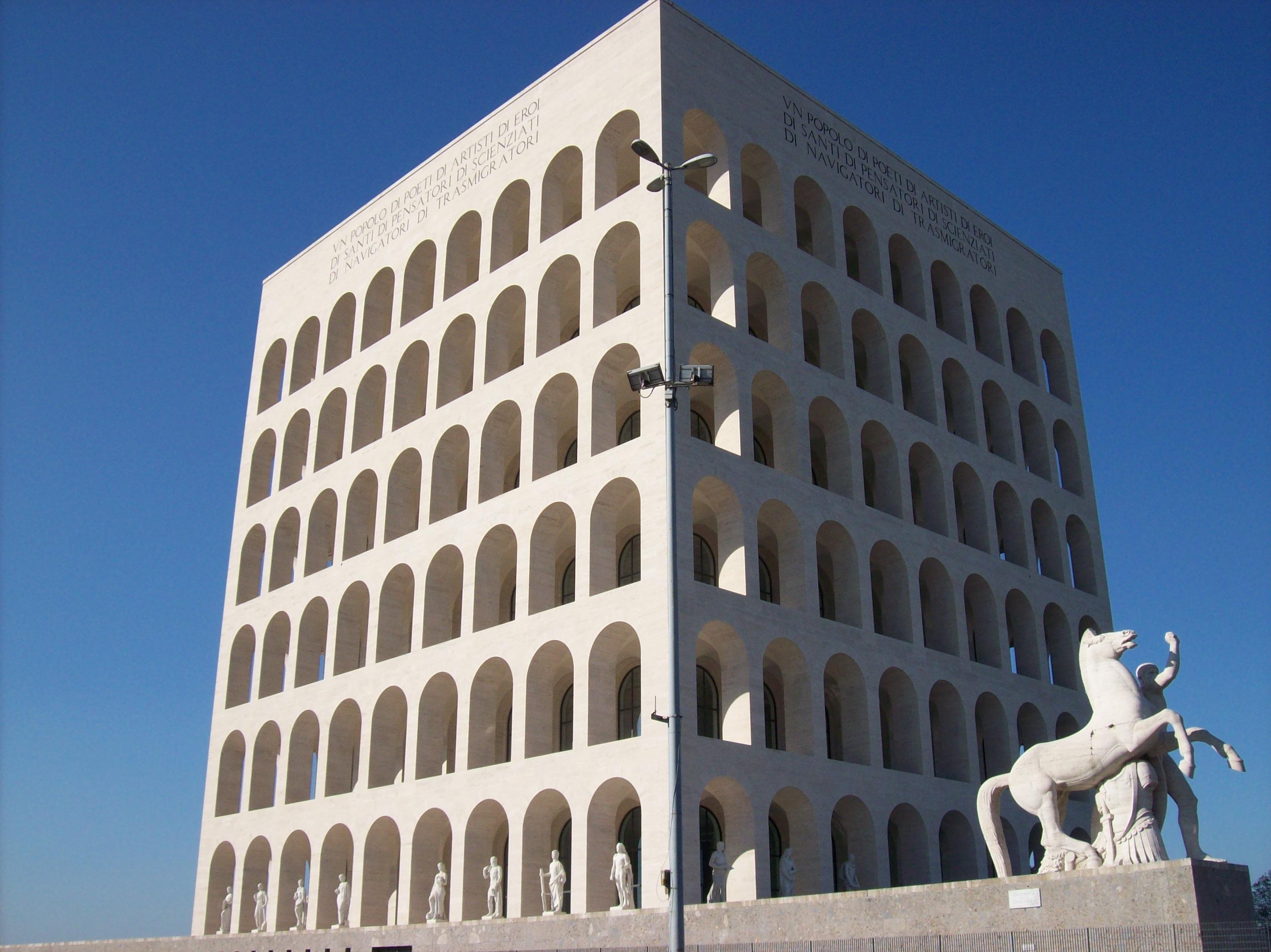 Il quartiere eur centro residenziale congressuale e for Lavoro architetto milano